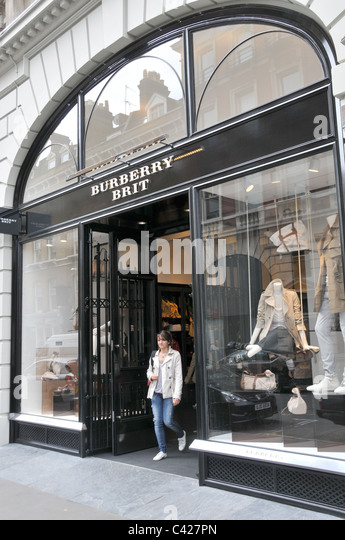 Burberry Brit Store A Milano : Clothing brand stock photos images