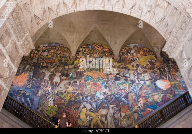 Diego rivera mural stock photos diego rivera mural stock for Diego rivera mural 1929