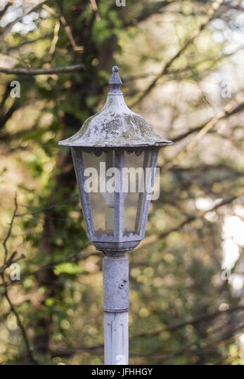 Detailed view nostalgic street lamp - Stock Image