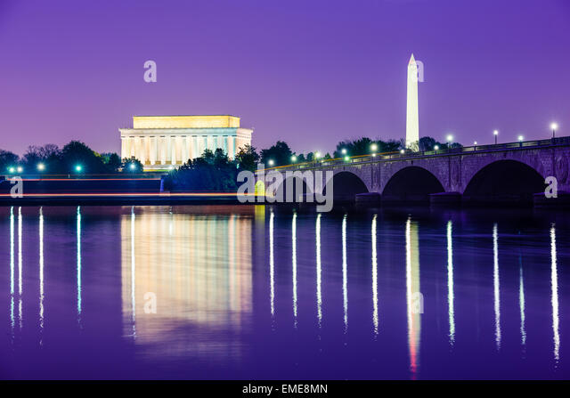 Washington, D.C. from across the Potomac River. - Stock Image