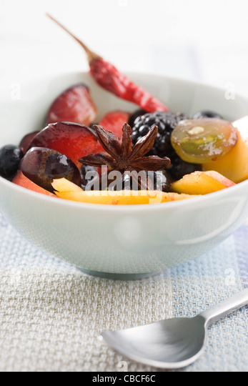 Spiced fruit salad - Stock-Bilder