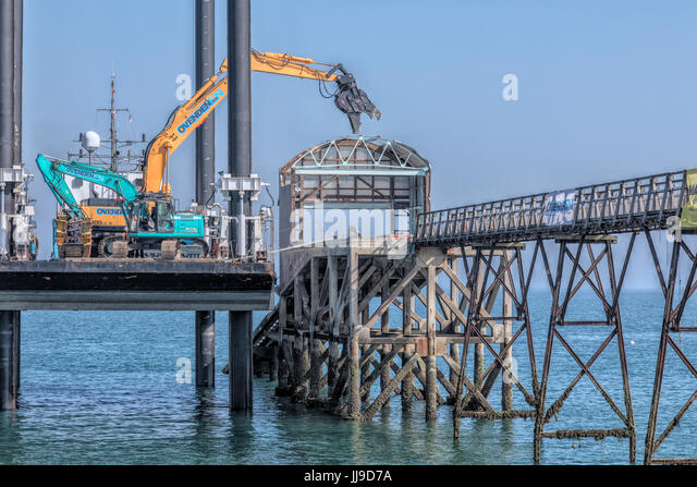 demolition of the iconic lifeboat station in Selsey, Chichester, West Sussex, England - Stock-Bilder