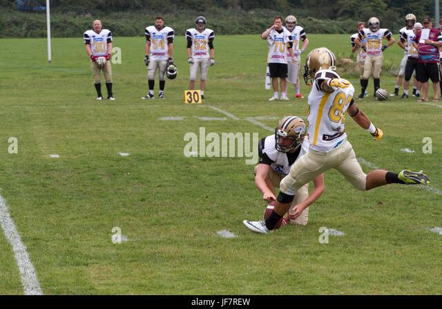 American football in Norfolk UK - Stock Image