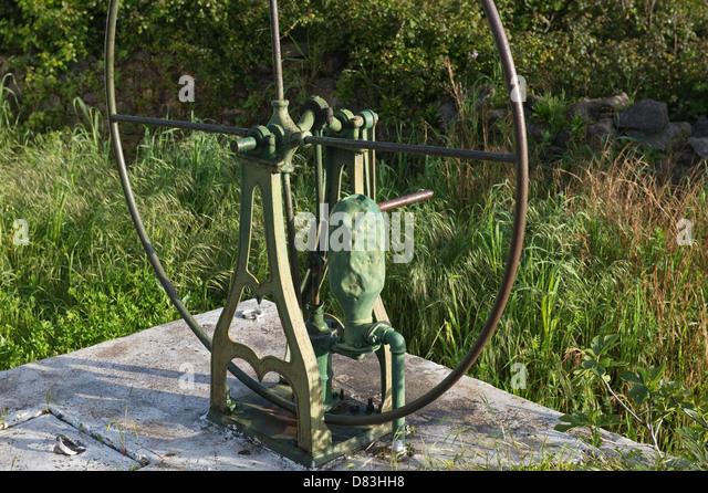 Water wheel Ferrobo Sao Bras de Alportel Algarve Portugal Mediterranean Europe - Stock Image