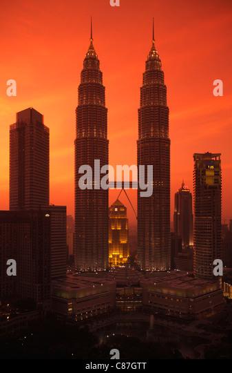 Menara Petronas towers, Kuala Lumpur, Malaysia - Stock Image