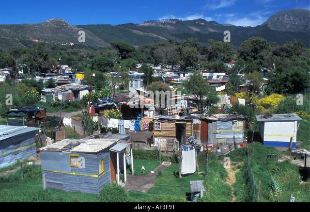 South Africa Cape Town Township - Stock-Bilder