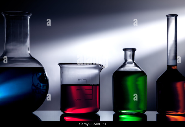 Lab glassware - Stock Image