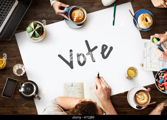 Vote Today Election Politics Concept - Stock Image