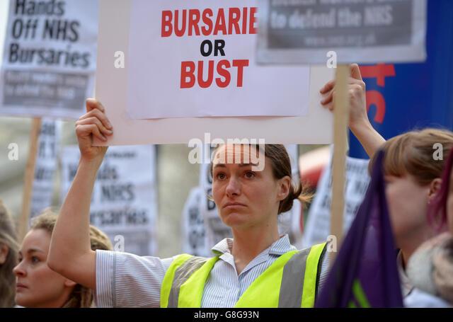 Nursing bursaries scrapped - Stock Image