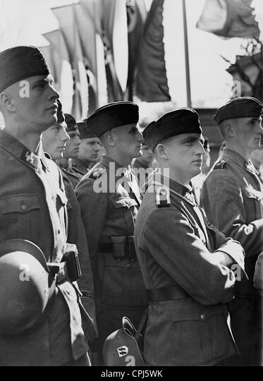 Members of the Waffen SS, 1942 - Stock-Bilder