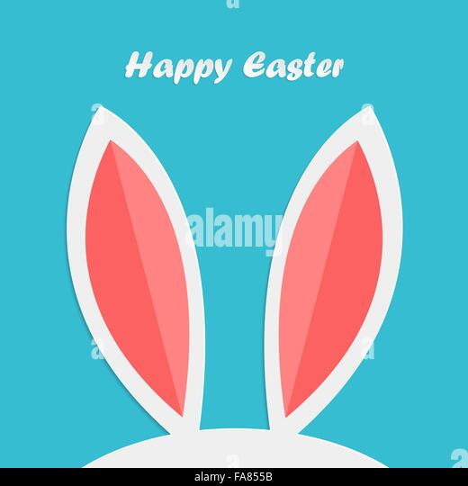 Abstract easter rabbit ears for your design - Stock-Bilder