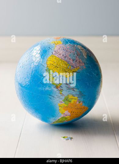 planet earth puzzle - Stock Image