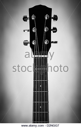 guitar neck - Stock Image