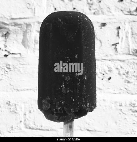 Ice lolly in black and white - Stock-Bilder