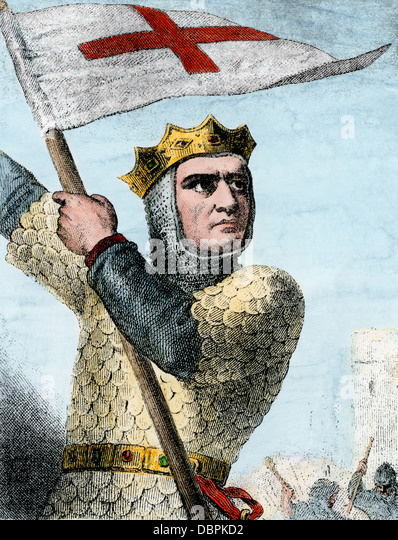 Godfrey of Bouillon in the First Crusade, 1096 A.D. - Stock-Bilder