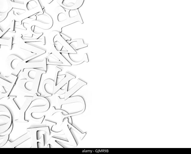 communication letters word - Stock Image