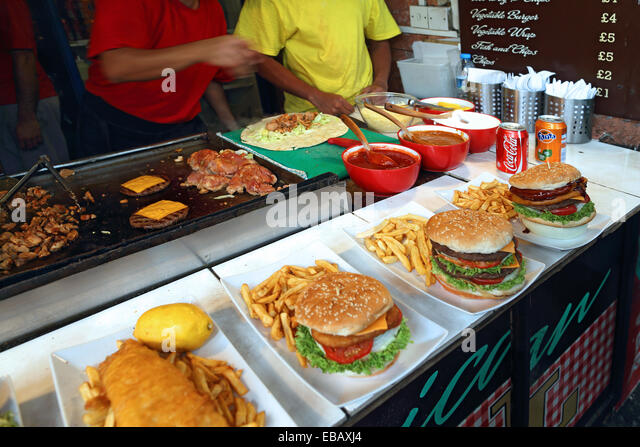 Hamburger stall stock photos hamburger stall stock for American cuisine in london