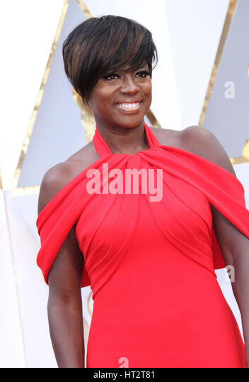 Hollywood, CA, USA. 26th Feb, 2017. 26 February 2017 - Hollywood, California - Viola Davis. 89th Annual Academy - Stock-Bilder