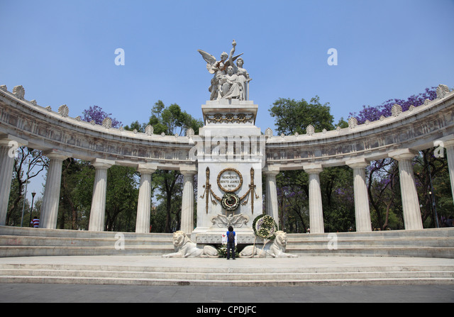 Hemiciclo a Juarez (Benito Juarez Monument), Alameda, Mexico City, Mexico, North America - Stock Image