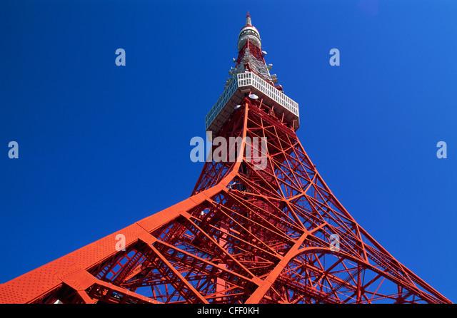 Japan, Honshu, Tokyo, Tokyo Tower - Stock Image