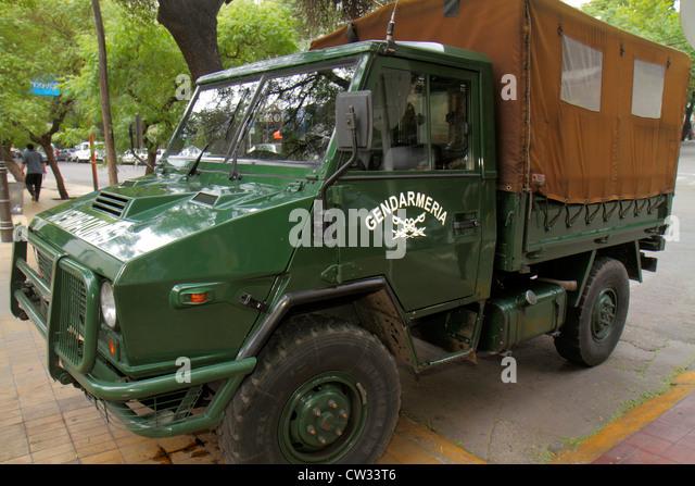 Argentina Mendoza Avenida San Martin Gendarmería Nacional Argentina border patrol government agency military - Stock Image