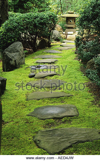Japanese Stepping Stones Stock Photos Japanese Stepping Stones Stock Images Alamy