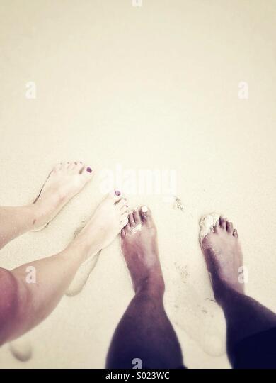 Feet on holiday - Stock-Bilder