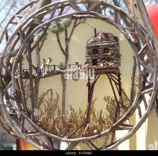 artistic unusual knic knac for sale at art show - Stock-Bilder
