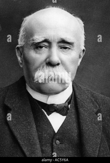 GEORGES CLEMENCEAU French politiciian 1841 1929 who was prime Minister from 1906 09 and again from 1917 1919 - Stock Image