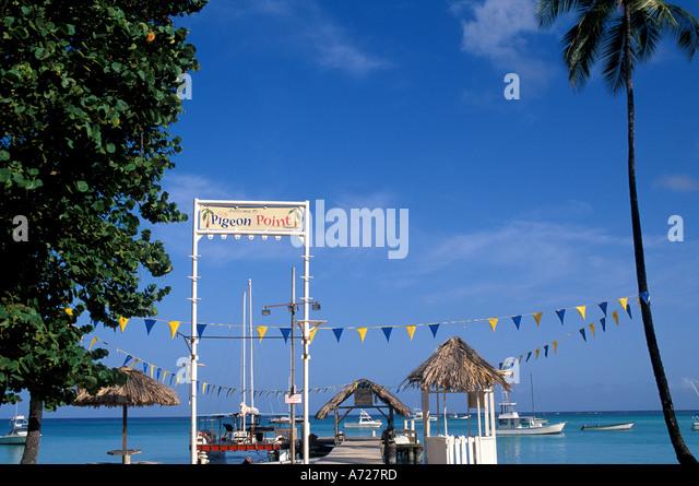 Tobago Caribbean island Pigeon Point Heritage Park - Stock Image