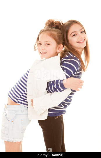 friendship, happy smiling playful best friends - Stock Image