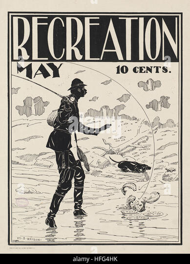 Recreation, May, 10 cents - Stock Image