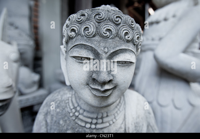 Stone carvings Bali Indonesia - Stock Image