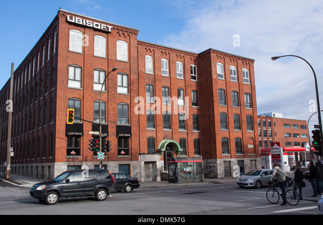 OFFICES OF THE VIDEO GAMES SPECIALISTS UBISOFT ON BOULEVARD SAINT-LAURENT, THE PLATEAU QUARTER, MONTREAL, QUEBEC, - Stock Image