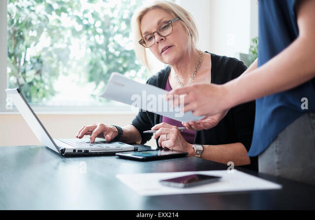 Women working in office - Stock Image