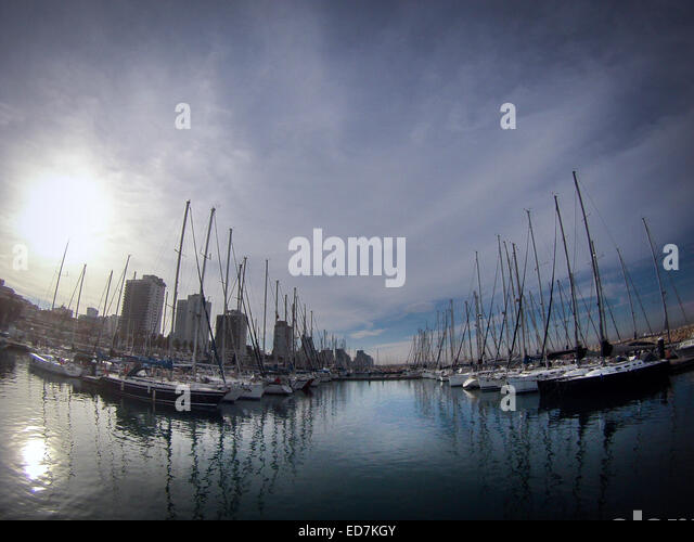 The Marina at tel Aviv, Israel. - Stock Image