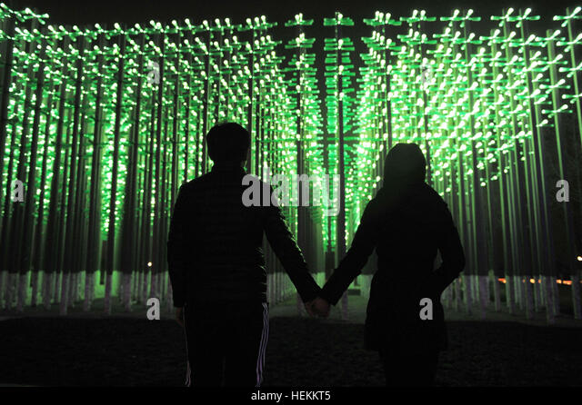 Qingdao, Qingdao, China. 22nd Dec, 2016. Qingdao, CHINA-December 22 2016: (EDITORIAL USE ONLY. CHINA OUT) .The lighting - Stock Image