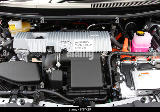 A Toyota hybrid engine. - Stock Image