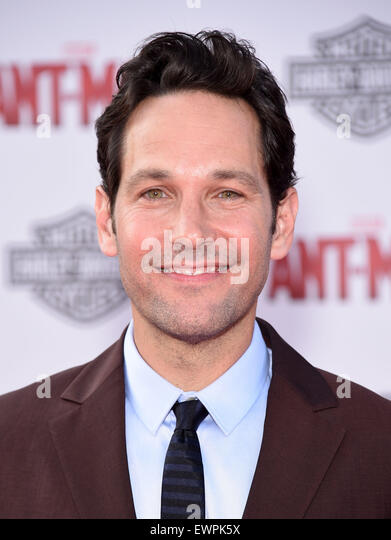 Hollywood, California, USA. 29th June, 2015. Paul Rudd arrives for the premiere of the film 'Ant-Man' at - Stock Image