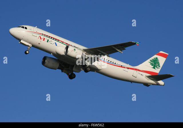 MEA A320 LEBANON - Stock Image