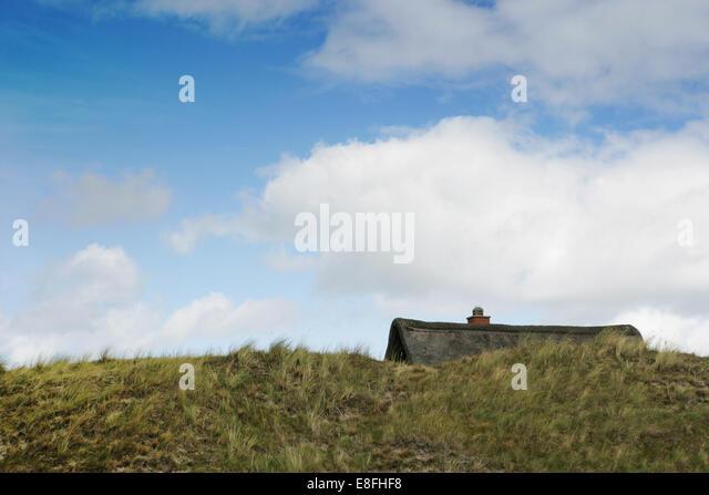 Denmark, Roof of Summerhouse - Stock Image