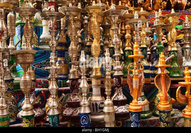 Shishas at Baazar Khan Al-Khalili, Cairo, Egypt, Africa - Stock Image