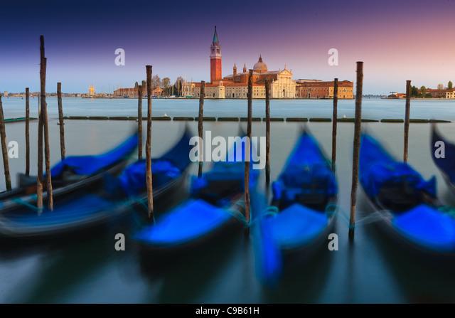 Sunrise in Venice with the view from San Marco square towards San Giorgio Maggiore - Stock-Bilder