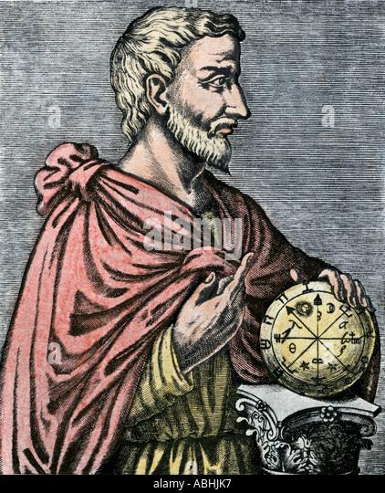 Pythagoras ancient Greek philosopher and mathematician - Stock Image