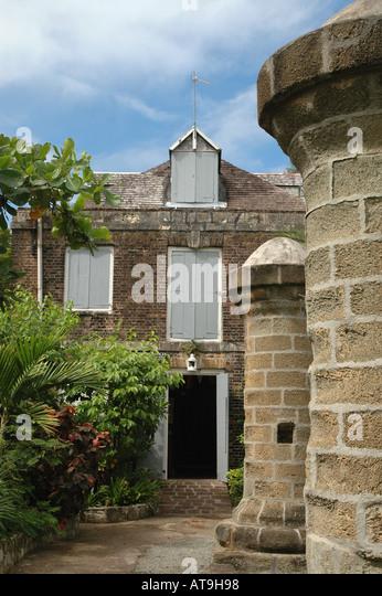 Antigua Admirals Inn at English Harbour Nelsons Dockyard National  Park Caribbean - Stock Image