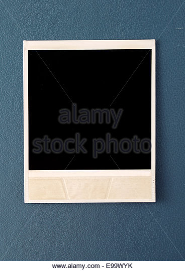 polaroid photo - Stock Image