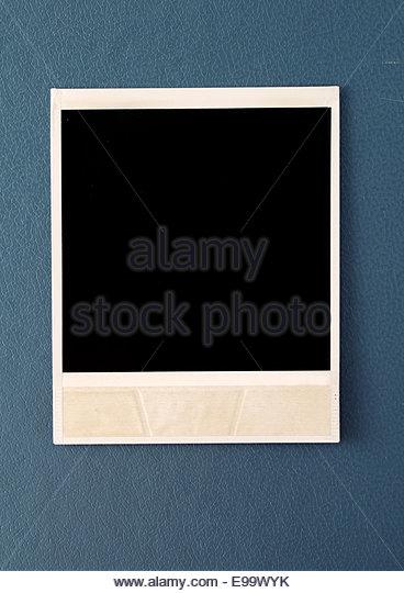 polaroid photo - Stock Image