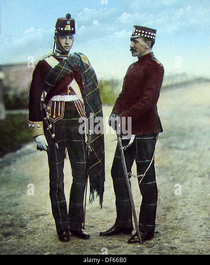 Highland Light Infantry Victorian period - Stock Image
