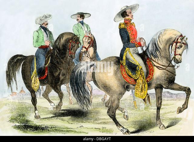 General Antonio Lopez de Santa Anna in military costume. - Stock Image