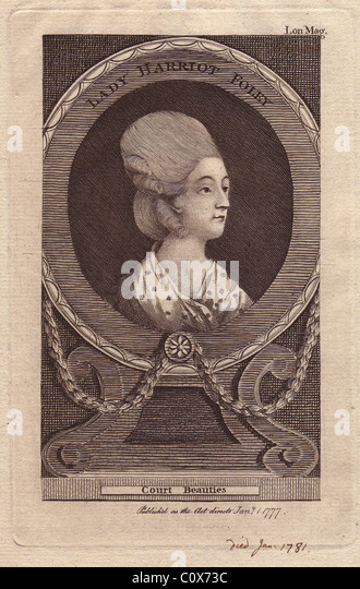 Lady Harriot Foley (d. 1781), English noblewoman of the 18th century. - Stock Image